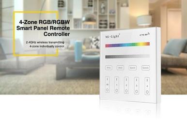 Milight - 4-zone rgb+cct smart panel remote controller - t4