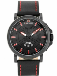 Męski zegarek NAVIFORCE - NF9125 zn068b - blackred