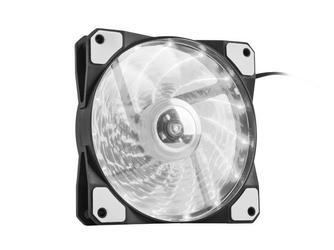 NATEC Wentylator do zasilaczaobudowy Genesis Hydrion 120 biały LED