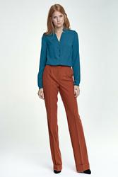 Rude Eleganckie Spodnie z Szerokimi Nogawkami