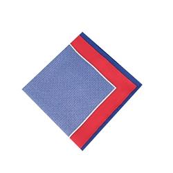 Poszetka męska czerwono niebieska we wzory