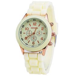 Zegarek Damski GENEVA JELLY watch SPORT cytrynowy - 33902