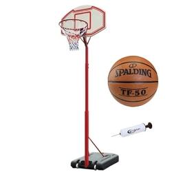 Zestaw kosz do koszykówki master regulowany + piłka tf-50 + pompka