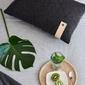 Moyha :: poduszka wełna i skóra antracytowa