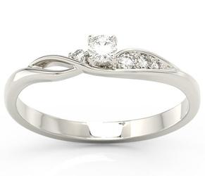 Pierścionek z białego złota z brylantami bp-7810b - białe  diament