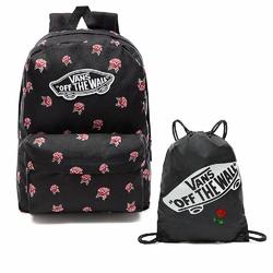 Plecak szkolny VANS Realm Black  Rose - VN0A3UI6RDU + Worek