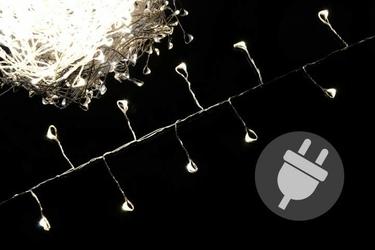 Lampki świąteczne 300 led, ciepłe białe