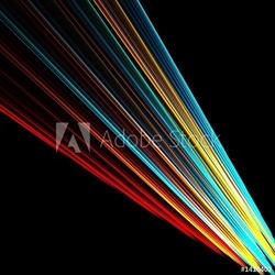 Board z aluminiowym obramowaniem kolorowa wiązka światła