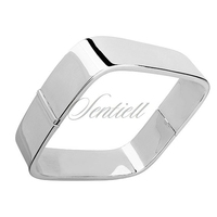 Bransoletka bangle srebro pr.925 kwadratowa dmuchana szerokość 15mm