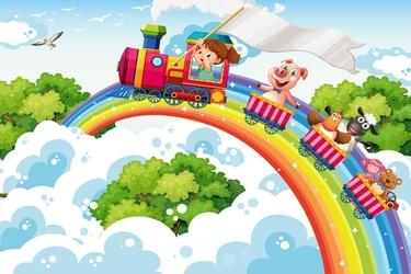 Fototapeta dla dzieci pociąg 1326