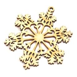 Drewniana dekroacja świąteczna śnieżynka