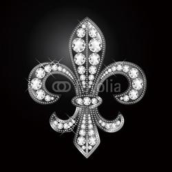 Plakat na papierze fotorealistycznym lilia godła fleur-de-lis