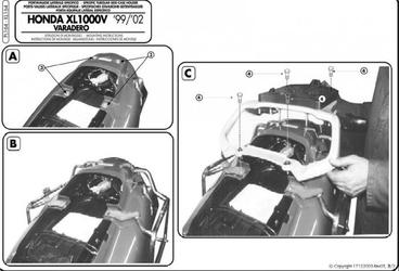 Kappa kl164 stelaż boczny honda xl 1000v varadero 99-0