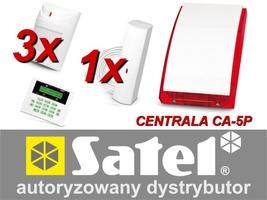 Alarm satel ca-5 lcd, 3xaqua plus, 1xfd-1, syg. zew. sp-4001 - możliwość montażu - zadzwoń: 34 333 57 04 - 37 sklepów w całej polsce