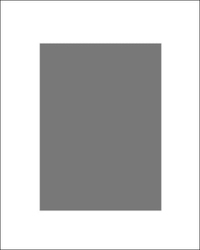 Passe-partout białe 100x50 cm