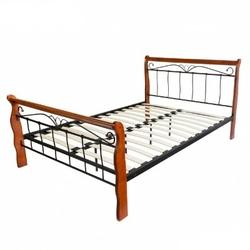 Łóżko metalowe podwójne 160 x 200 cm, stelaż