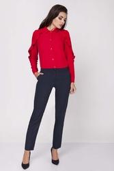Granatowe klasyczne eleganckie spodnie w kant