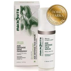 Macrovita age defense face serum z bio-oliwą z oliwek i niepokalankiem pieprzowym 30ml