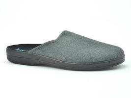 Pantofle pełne męskie adanex 24620 szary