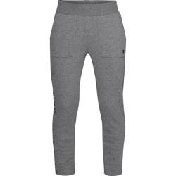 Spodnie dresowe damskie under armour rival fleece pant - szary