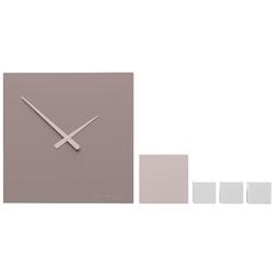 Zegar ścienny do holu kubo calleadesign szara śliwka 10-325-34