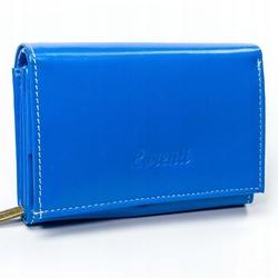 Skórzany portfel damski lorenti skóra naturalna rd-02-bal blue - niebieski