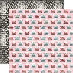 Papier 30,5x30,5 cm Head over heels - typewriters - 02