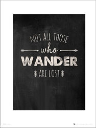 Adventure wander lost - plakat premium