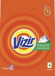 Vizir, alpine fresh, proszek do prania tkanin, 2,85 kg