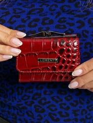 Portfel damski skórzany lorenti 55287-stw czerwony - czerwony