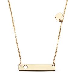 Staviori naszyjnik złoty blaszka z sercem 45cm. żółte złoto 0,585