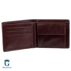 Brązowy skórzany portfel męski visconti en-01