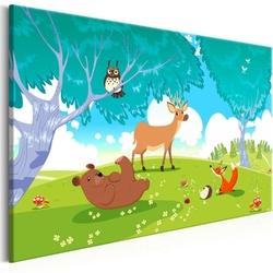 Obraz - przyjazne zwierzęta 1-częściowy szeroki