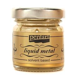 Farba ciekły metal 30 ml Pentart - złoty antyczny - ZŁOANT