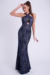 Evalola sukienka - granatowy 26011-3