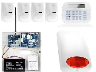 Zestaw alarmowy dsc 4x czujnik ruchu manipulator lcd powiadomienie, sterowanie, konfiguracja gsm