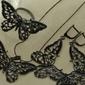 Czarne motyle - srebrny komplet z onyksami