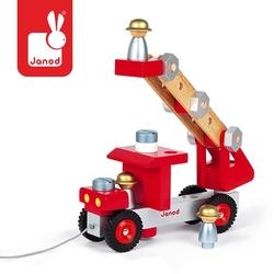 Wóz strażacki do składania drewniany duży