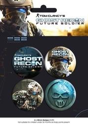 Ghost recon future soldier - zestaw 4 przypinek