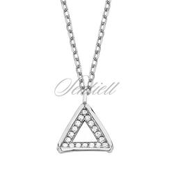 Srebrny naszyjnik pr.925 - trójkąt z cyrkoniami
