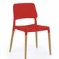 Krzesło nowoczesne K163 czerwone