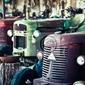 Obraz stary ciągnik