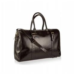 Duża torba podróżna ze skóry betlewski btm-03 brązowa