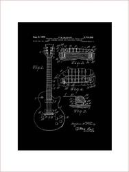 Gitara elektryczna projekt 1955  - retro plakat wymiar do wyboru: 21x29,7 cm