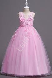Jasno różowa suknia dla dziewczynki na wesele, bal 832