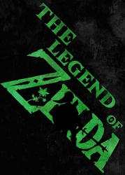 Typography stencils - the legend of zelda - plakat wymiar do wyboru: 40x60 cm
