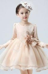 Sukienka dla dziewczynki z długim rękawem brudny róż