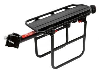 Bagażnik rowerowy deone alu 2628 na sztycę rurki czarny