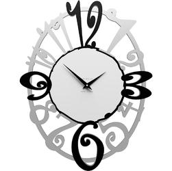 Owalny zegar ścienny Michelle CalleaDesign aluminium  czarny  biały 10-129-5