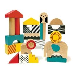 Klocki drewniane petit collage - zwierzęta